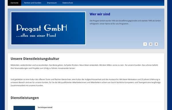 Vorschau von www.progast.net, Progast Gesellschaft für Messe-, Kongress- und Veranstaltungsorganisation mbH