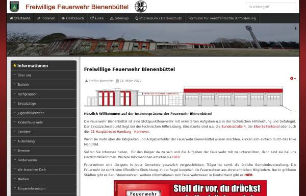 Vorschau von www.feuerwehr-bienenbuettel.de, Freiwillige Feuerwehr Bienenbüttel