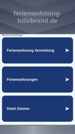 Vorschau der mobilen Webseite www.ferienwohnung-hillebrand.de, Ferienwohnung Hillebrand