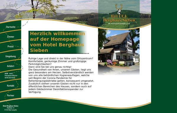 Vorschau von www.hotelwittgensteinerhof.de, Hotel Wittgensteiner Hof