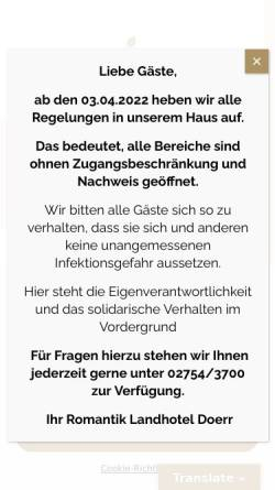 Vorschau der mobilen Webseite www.landhotel-doerr.de, Landhotel Doerr