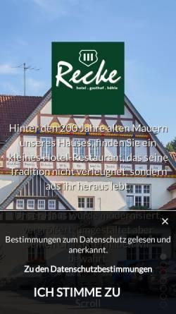 Vorschau der mobilen Webseite www.haus-recke.de, Hotel Haus Recke