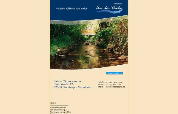 Vorschau von www.anderbieke.de, Pension An der Bieke