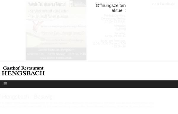 Vorschau von www.hotel-hengsbach.de, Hotel Hengsbach