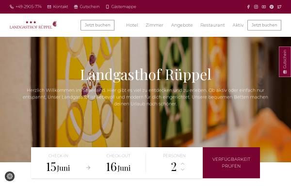 Vorschau von www.valme.de, Landgasthof Rüppel