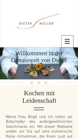Vorschau der mobilen Webseite www.dietermueller.de, Dieter Müller