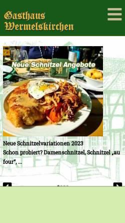 Vorschau der mobilen Webseite www.gasthaus-wermelskirchen.de, Gasthaus Wermelskirchen Bensberg