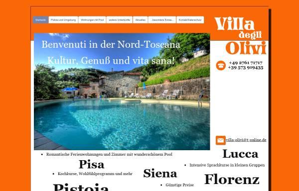 Vorschau von www.villa-olivi.de, Italienisch-Sprachkurse und Ferienwohnungen