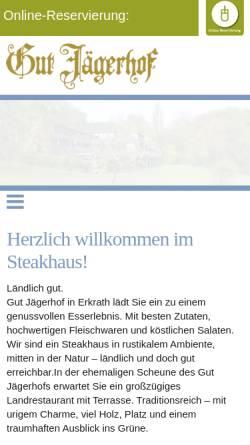 Vorschau der mobilen Webseite www.gut-jaegerhof.de, Restaurant Gut Jägerhof