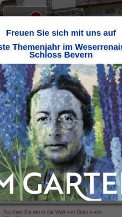 Vorschau der mobilen Webseite www.schloss-bevern.de, Schloss Bevern