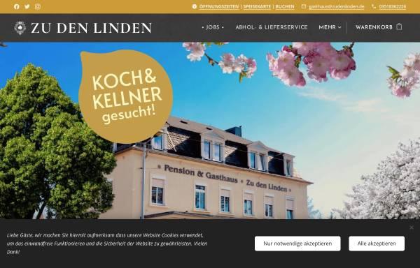 Vorschau von www.zudenlinden.de, Gasthof & Pension Zu den Linden
