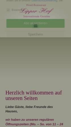 Vorschau der mobilen Webseite www.lipper-hof.de, Lipper Hof