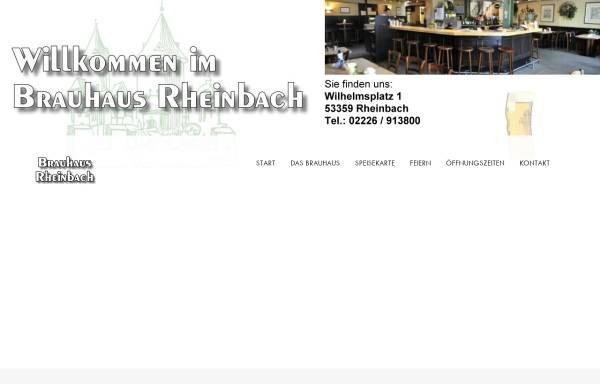 Vorschau von www.brauhaus-rheinbach.de, Brauhaus Rheinbach