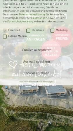 Vorschau der mobilen Webseite www.birkenhof-nowicki.de, Birkenhof Nowicki