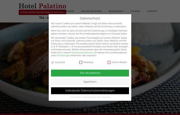 Vorschau von www.hotelpalatino.de, Hotel-Restaurant Palatino