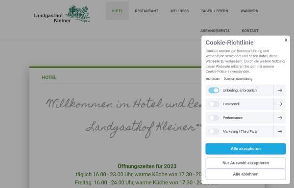 Vorschau von www.landgasthof-kleiner.de, Landgasthof Kleiner