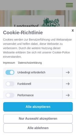 Vorschau der mobilen Webseite www.landgasthof-kleiner.de, Landgasthof Kleiner