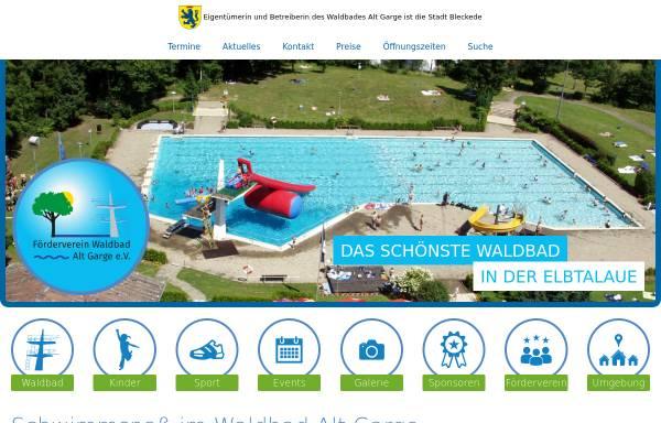 Vorschau von www.waldbad-alt-garge.de, Alt Garge