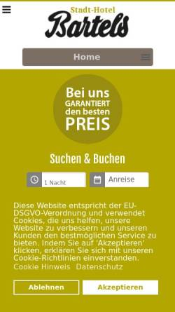 Vorschau der mobilen Webseite www.stadthotel-bartels.de, Stadthotel Bartels