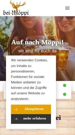 Vorschau der mobilen Webseite www.bei-moeppi.de, Skihütte Poppenberg