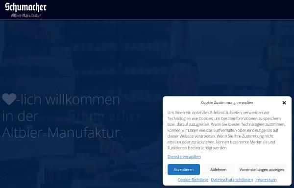 Vorschau von www.brauerei-schumacher.de, Brauerei Schumacher