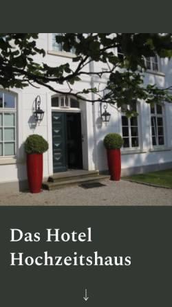 Vorschau der mobilen Webseite www.hochzeitshaus-aurich.de, Hotel Hochzeitshaus Aurich