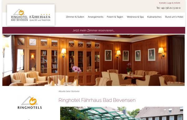 Vorschau von www.hotelfaehrhaus.de, Hotel Fährhaus Karl Ries GmbH