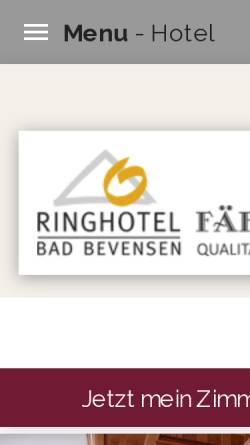 Vorschau der mobilen Webseite www.hotelfaehrhaus.de, Hotel Fährhaus Karl Ries GmbH