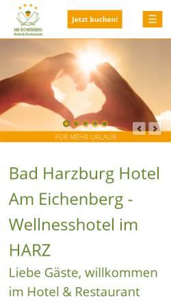 Vorschau der mobilen Webseite www.hotel-am-eichenberg.de, Hotel Am Eichenberg