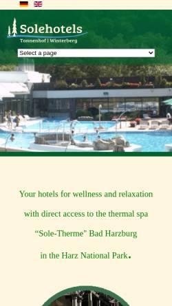 Vorschau der mobilen Webseite www.solehotels.de, Sole Hotels