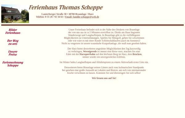 Vorschau von www.ferienhaus-schoppe.de, Ferienhaus Schoppe