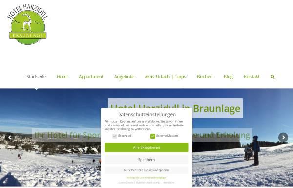 Vorschau von www.harzidyll.de, Hotel Harzidyll