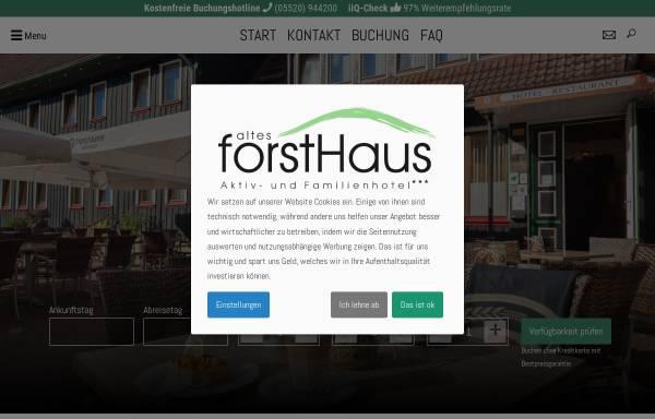 Vorschau von www.forsthaus-braunlage.de, Hotel Restaurant Altes Forsthaus