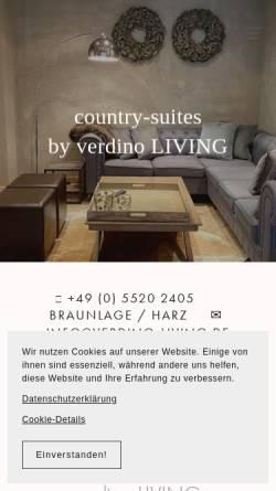Vorschau der mobilen Webseite www.landhaus-ferienwohnungen.de, Landhaus-Ferienwohnungen, Familie Dobrick