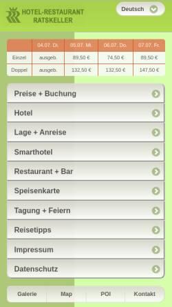 Vorschau der mobilen Webseite www.ratskellersalzgitter.de, Hotel Ratskeller