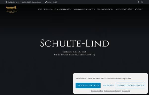 Vorschau von www.gaststaette-schulte-lind.de, Gaststätte Schulte-Lind