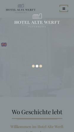 Vorschau der mobilen Webseite www.hotel-alte-werft.de, Hotel Alte Werft