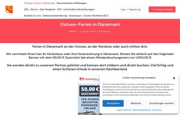 Vorschau von www.ostsee-ferien.info, Ostsee Ferienwohnungen