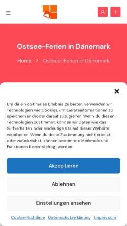 Vorschau der mobilen Webseite www.ostsee-ferien.info, Ostsee Ferienwohnungen