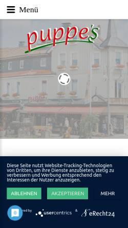 Vorschau der mobilen Webseite www.puppes.de, Puppes - Spezialitäten