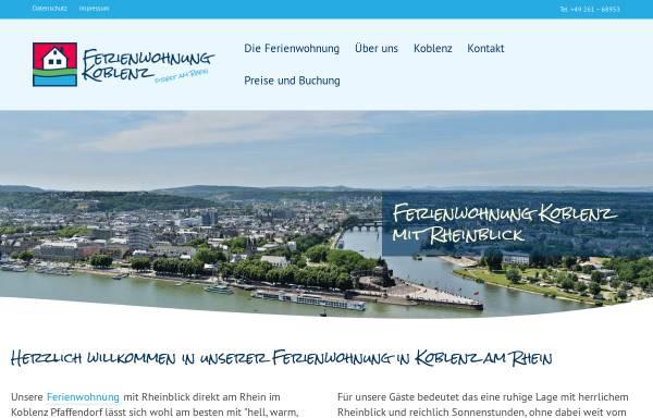 Vorschau von www.ferienwohnung-koblenz.de, Ferienwohnung Wagner-Weiser