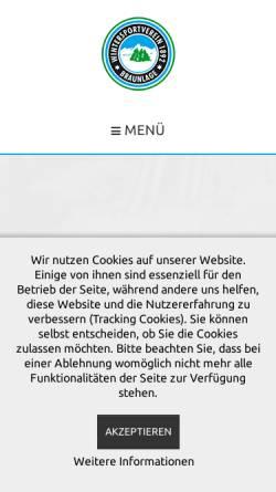 Vorschau der mobilen Webseite www.wsv-braunlage.de, Wintersportverein Braunlage von 1892 e.V.