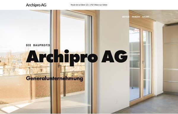 Vorschau von www.archipro-ag.ch, Archipro AG, Freiburg