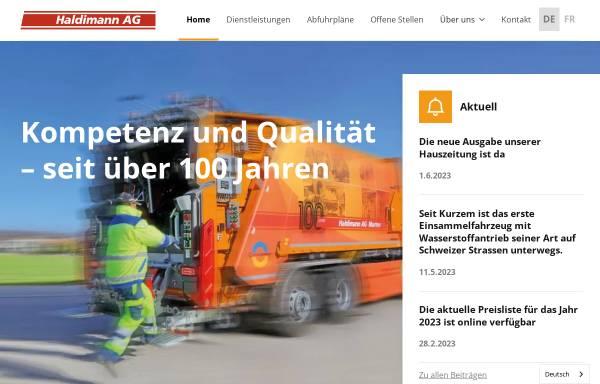 Vorschau von www.haldimannag.ch, Haldimann AG