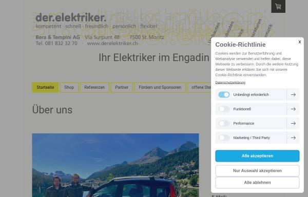 Vorschau von www.melcher-stmoritz.ch, Elektro Melcher AG