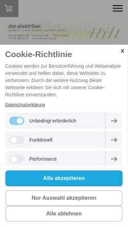 Vorschau der mobilen Webseite www.melcher-stmoritz.ch, Elektro Melcher AG