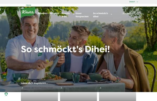 Vorschau von www.knorr.ch, Knorr-Nährmittel AG