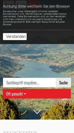 Vorschau der mobilen Webseite www.giswil.ch, Giswil