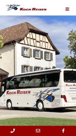 Vorschau der mobilen Webseite koch-reisen.ch, Koch Reisen AG