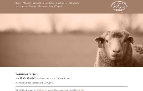 Vorschau von www.naturwollprodukte.ch, Ming Peter, Naturwollprodukte